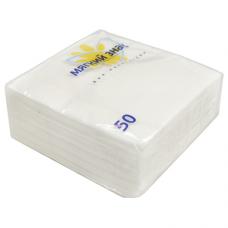 Салфетки бумажные Мягкий знак 1-слойные, белые, 50 шт.