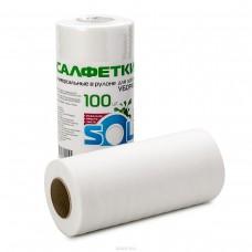 Салфетка вискозная СОЛ в рулоне 25x30 см 100 шт.