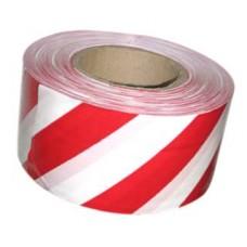 Лента оградительная 50 мм/ 200 м красно-белая
